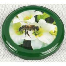 Méhészet T082 tető zöld virágos