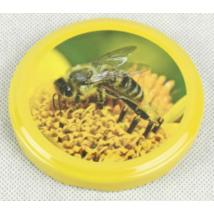 T082 tető sárga keretes virág méhecskével
