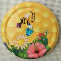 T082 tető vödrös méhecske, virágokkal