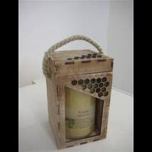 Díszdoboz fa 500 g-os üveghez