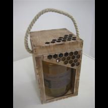 Díszdoboz fa 1000 g-os üveghez