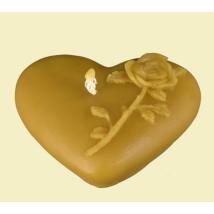 Méhészet Gyertya rózsás szív