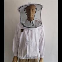 Méhészkabát zippzáras vékony S-es méret