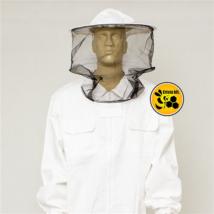 Méhészkabát levehető kalappal fehér XXL