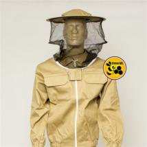 Méhészkabát levehető kalappal barna M