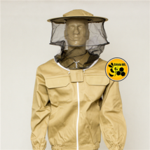 Méhészkabát levehető kalappal barna XXL