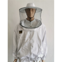 Méhészkabát zippzáras vastag L-es méret fehér