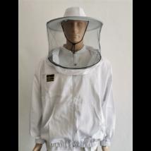 Méhészkabát zippzáras vastag XL-es méret fehér