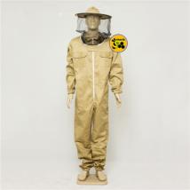Méhészoveráll levehető kalappal barna M