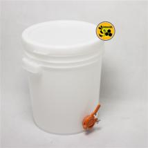 Méhészet 40 kg-os műanyag vödör,narancs csappal