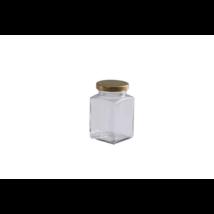 Négyszögletes üveg 260 ml (T058)