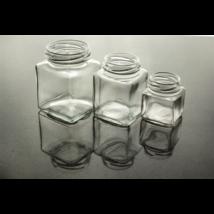 Négyszögletes üveg 200 ml (T058)
