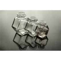 Hatszög üveg 100 ml álló (T038)