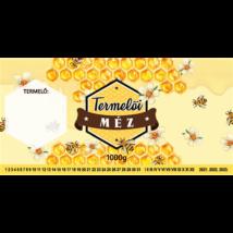 Méhészet Címke bianco Termelői méz
