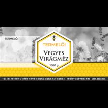 Méhészet Címke bianco Vegyes virág 1000g