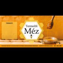 Címke bianco Termelői méz 500g