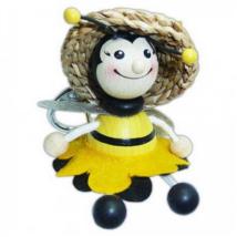 Méhészet Kulcstartó méhecskés lány