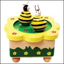 Méhészet Zenélő méhecskés, mágneses