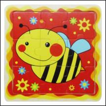 Méhészet Puzzle 9 db-os méhecskés