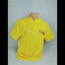 Méhészet Férfi galléros  póló  napraforgó sárga S-es méret