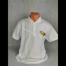 Méhészet Férfi galléros  póló  fehér M-es méret