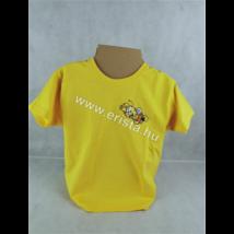 Méhészet Gyerek kerek nyakú póló 1-2 éves korig napraforgó sárga