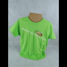 Méhészet Gyerek kerek nyakú póló 1-2 éves korig lime zöld