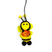 Méhecske narancssárga virággal
