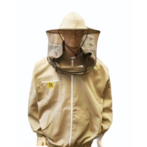 Méhészkabát zippzáras vastag L-es méret drapp