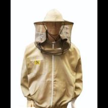 Méhészkabát zippzáras vastag S-es méret drapp