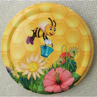 Méhészet T082 tető vödrös méhecske, virágokkal