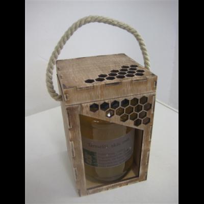 Méhészet Díszdoboz fa 1000 g-os üveghez