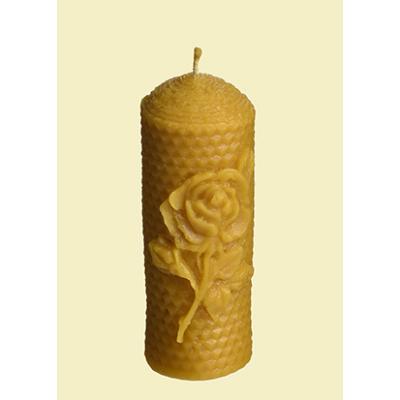 Méhészet Gyertya Csavart rózsás