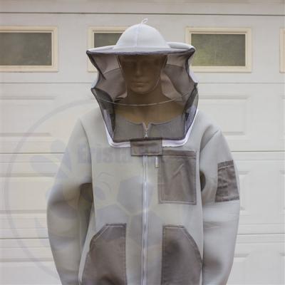 Méhészkabát levehető kalappal 3D hálós