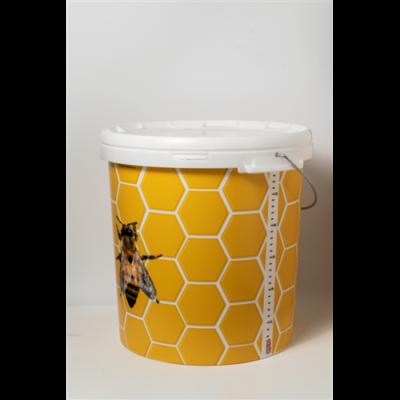 Méhészet Vödör, 40 kg-os műanyag méhsejtmintás