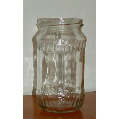 Fazettás 370 ml üveg