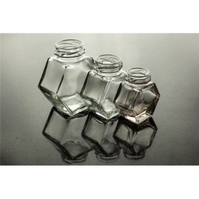 Hatszög üveg 50 ml álló (T033)