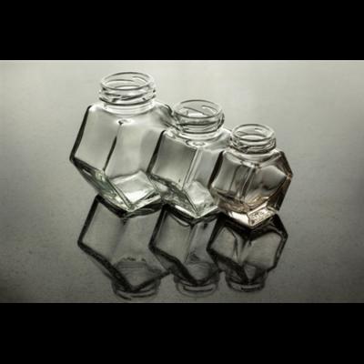 Méhészet Hatszög üveg 200 ml álló (T043)
