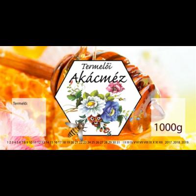 Méhészet Címke bianco Akác 1000 g - akciós