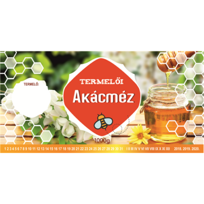 Méhészet Címke bianco Akác 1000g