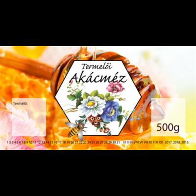 Méhészet Címke bianco Akác 500g