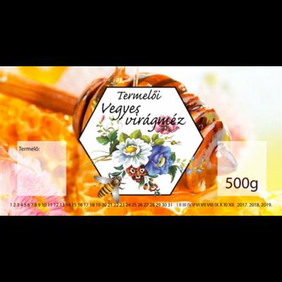 Címke bianco Vegyes virág 500g