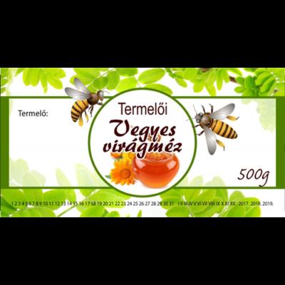 Méhészet Címke bianco Vegyes virág 500g