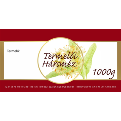 Méhészet Címke bianco Hárs 1000 g