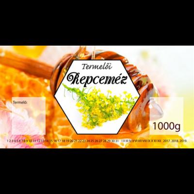 Méhészet Címke bianco Repce 1000 g