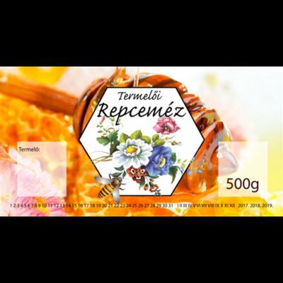 Méhészet Címke bianco Repce 500g