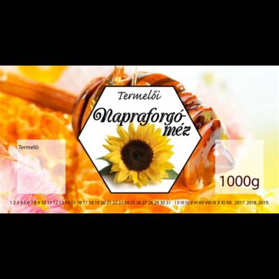 Méhészet Címke bianco Napraforgó 1000 g