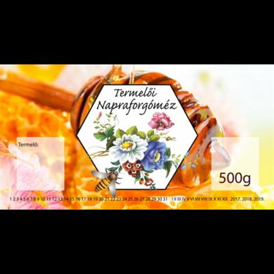 Méhészet Címke bianco Napraforgó 500g