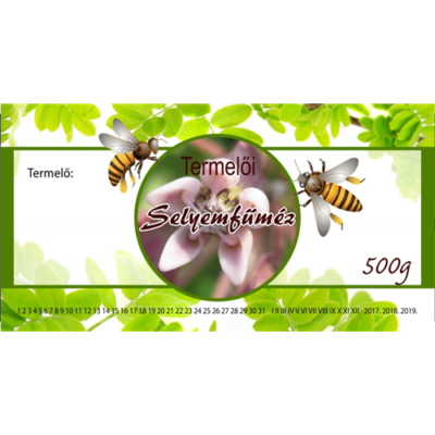 Méhészet Címke bianco Selyemfű 500g