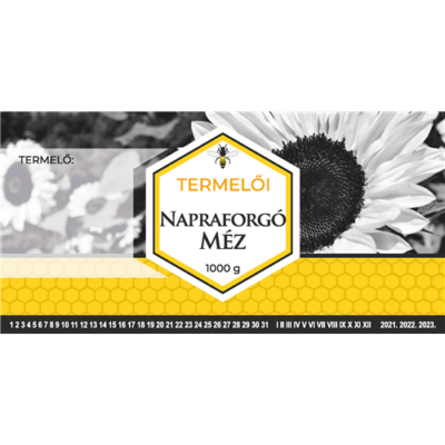 Méhészet Címke bianco Napraforgó 1000g